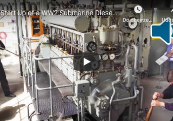 Start Up of WW2 Submarine Engine